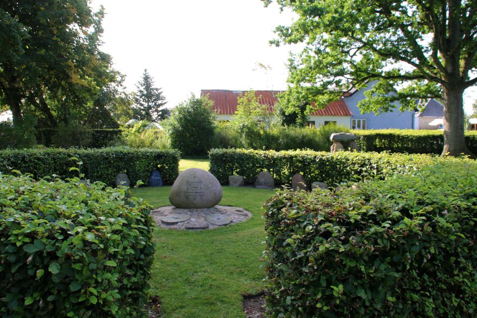 Место в парке Helledammen, где расположен камень воссоединения