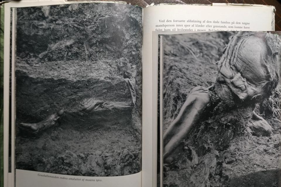 Фотографии человека из Граубалле, сделанные археологами во время раскопок