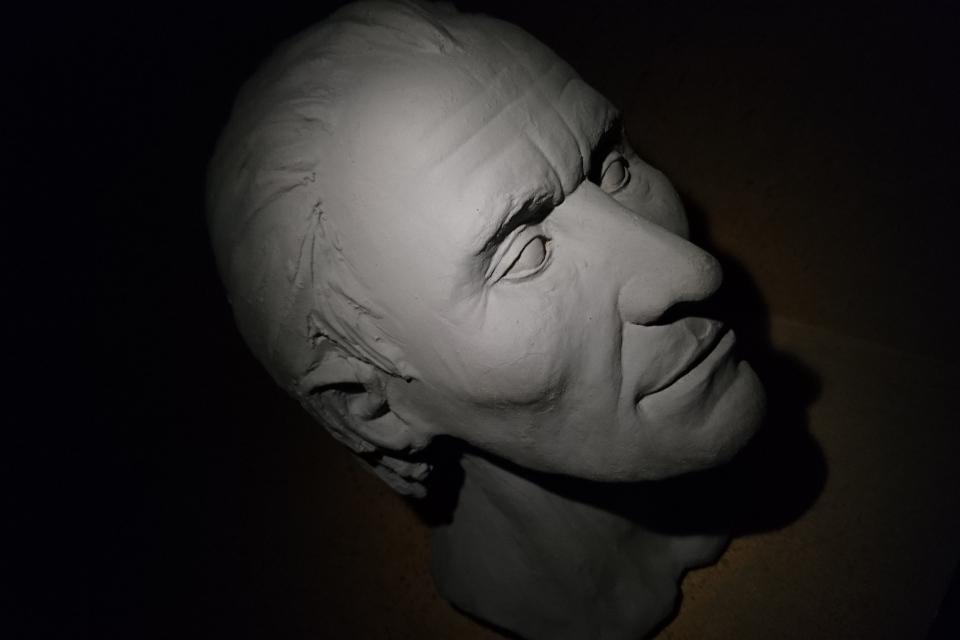 Человек из Граубалле - реконструкция головы в музее Мосгорд