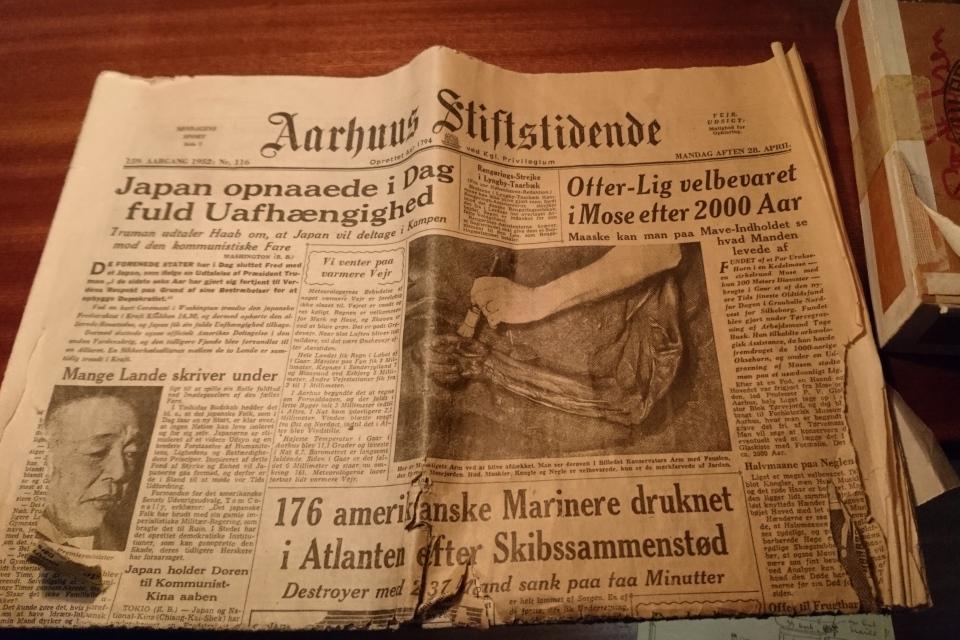 Газета Aarhus Stiftstidende от 29 апреля 1952