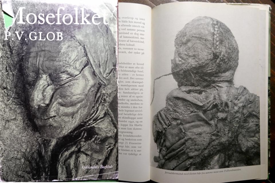 """Женщина из Эллинга (слева). Фото из книги П. Глоб """"Болотные люди (""""Mosefolket)"""