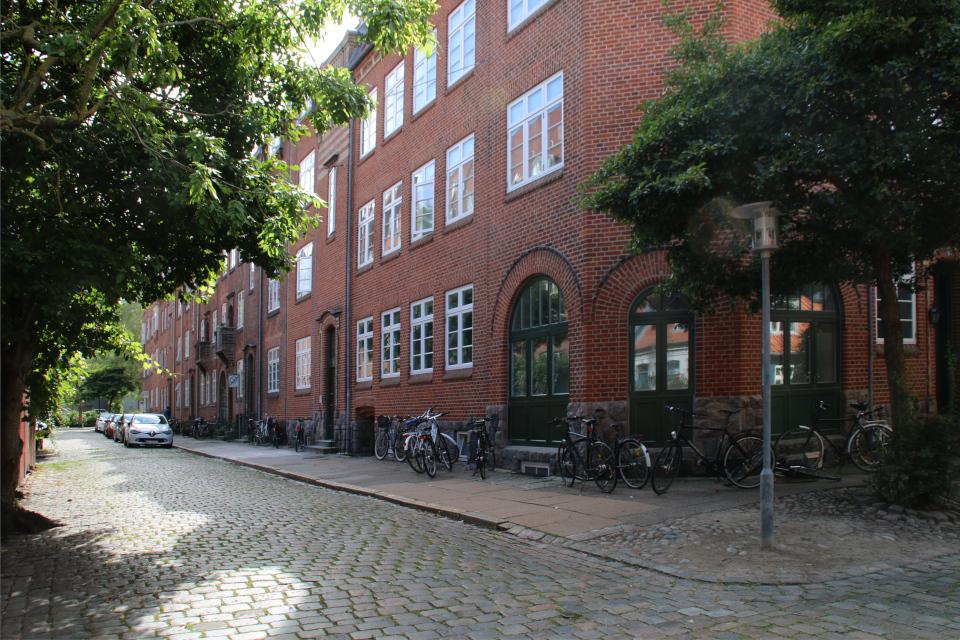 Улица Блейдаммен (Blegdammen), вид со стороны улицы Мёллестиен