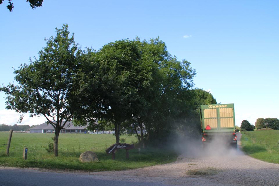 Грузовик едет по старой военно-торговой дороге Хэрваен (дат. Hærvejen)