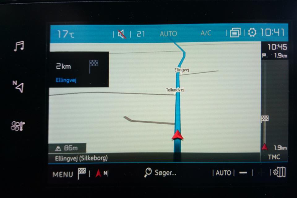 Дороги Толлундвай и Эллингвай. Фото с навигационной карты, 2 сент. 2020