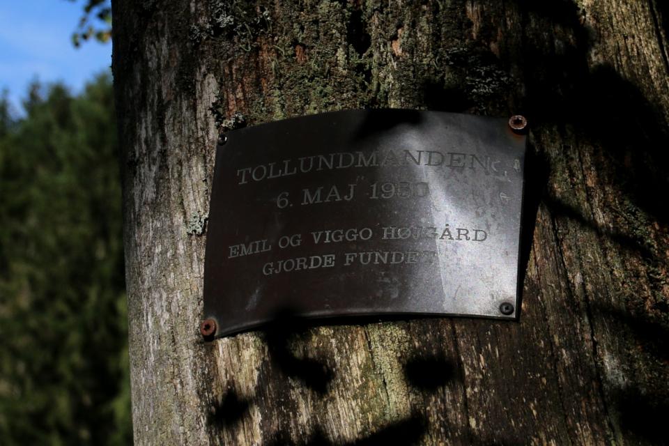 Металлическая табличка на месте находки человека из Толлунда