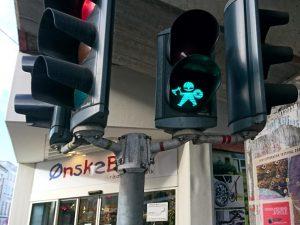 Викинги на светофорах в Орхусе