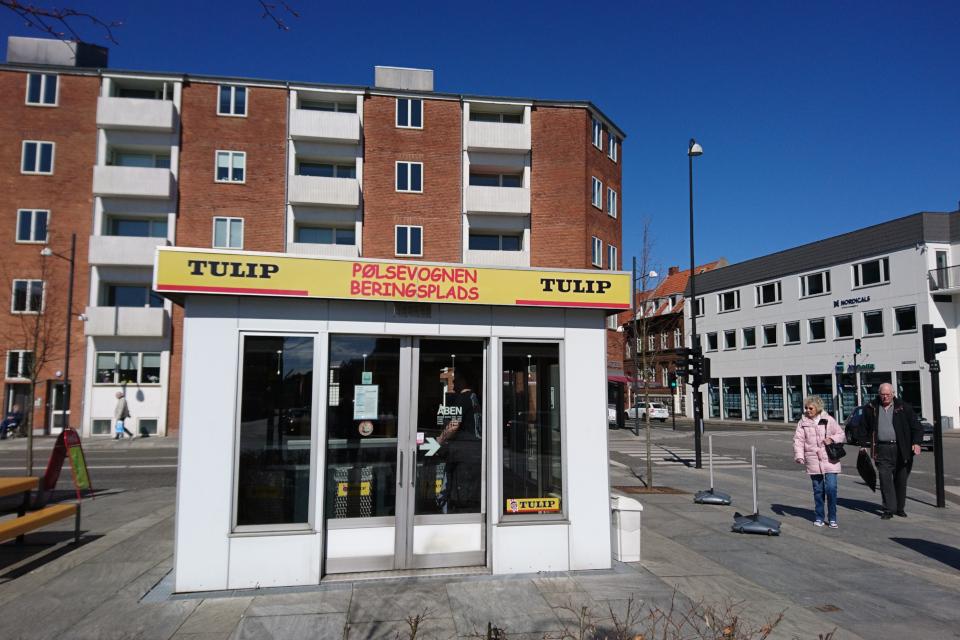 """Сосисочная """"Площадь Беринга"""" (Pølsevogn Beringsplads), г. Хорсенс, Дания"""
