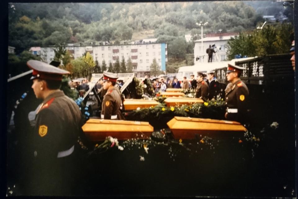 Церемония перезахоронения Витуса Беринга и членов его команды в 1992