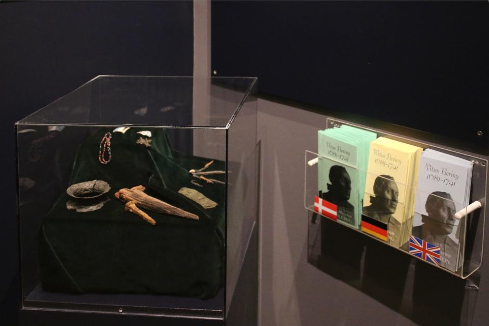 """Находки, сделанные во время экспедиции, выставка """"Витус Беринг"""", Дания"""