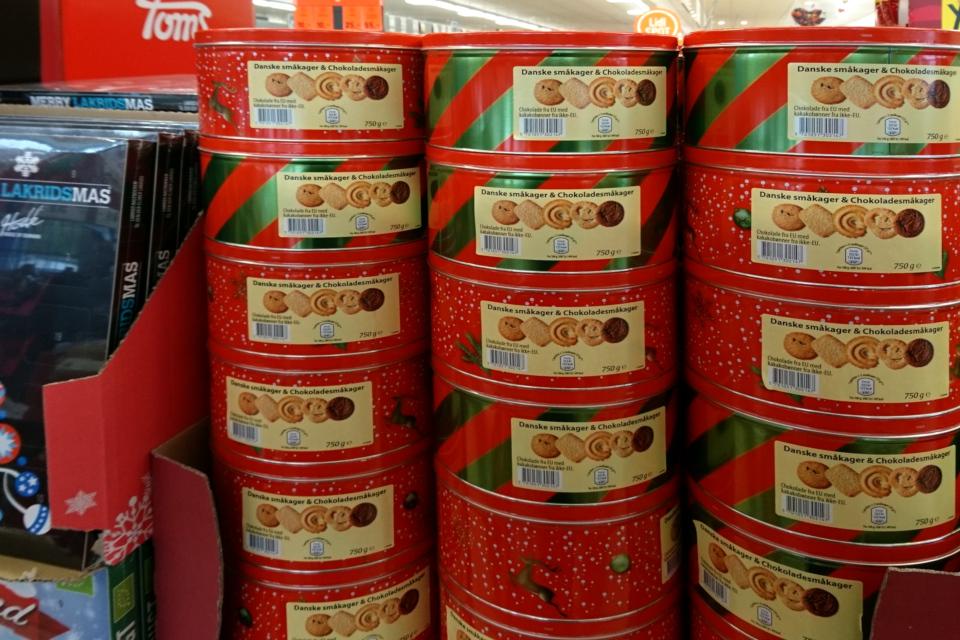 Датское печенье в жестяных коробках