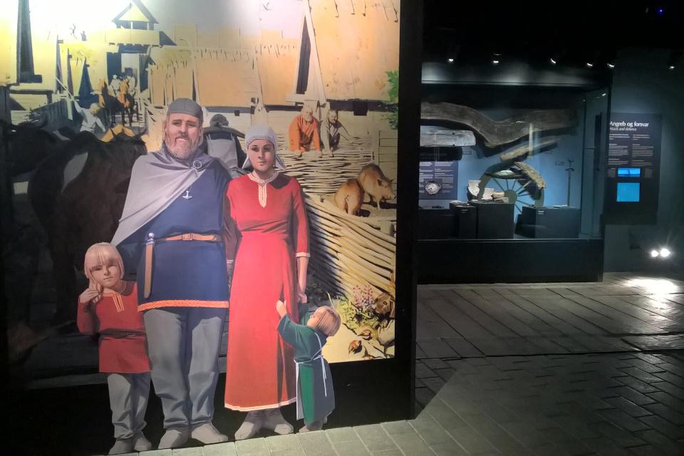 Плакат с выставки, музей викингов в Орхусе, Дания