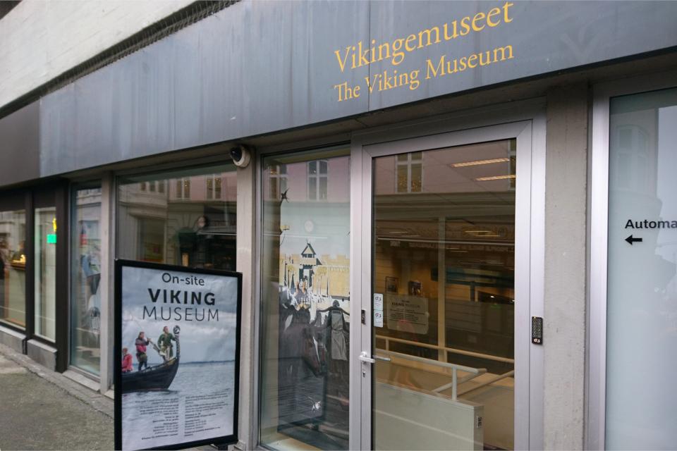 Музей викингов в подвале банка Nordea, Sankt Clemens Torv, г. Орхус, Дания