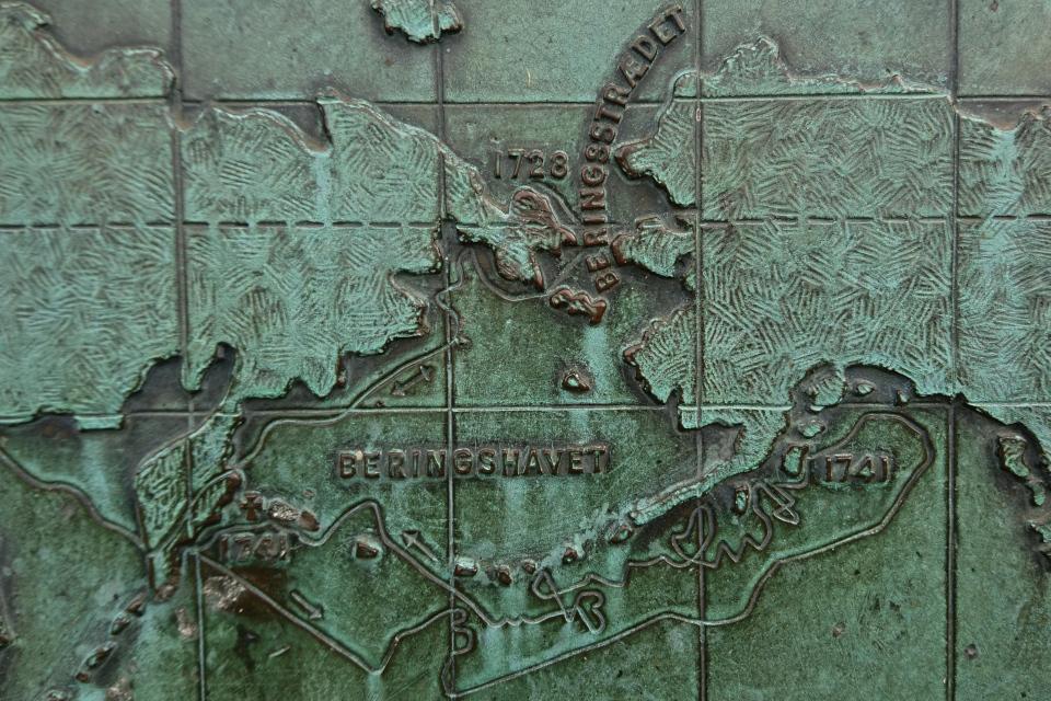 Схематическое изображение плаваний Витуса Беринга