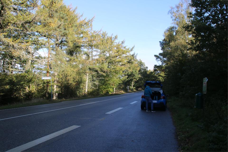 Парковка на дороге Борревай / Borrevej около дорожки