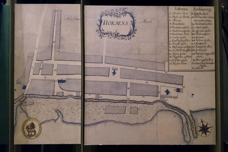 """Карта города Хорсенс от 1661 года, выставка """"Витус Беринг"""""""