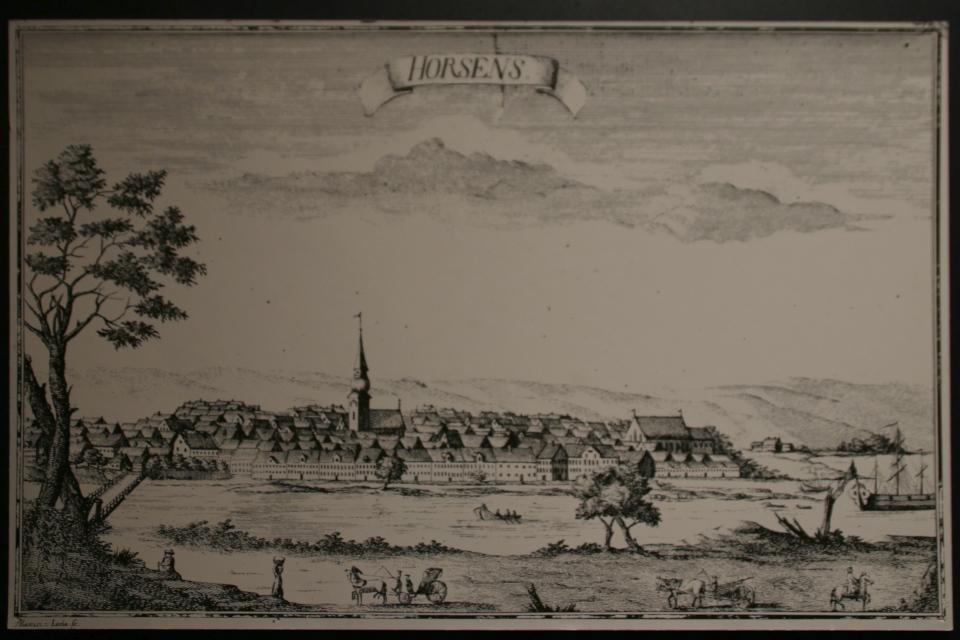 Иллюстрация г. Хорсенса 1700 годов, городской музей Хорсенс, Дания