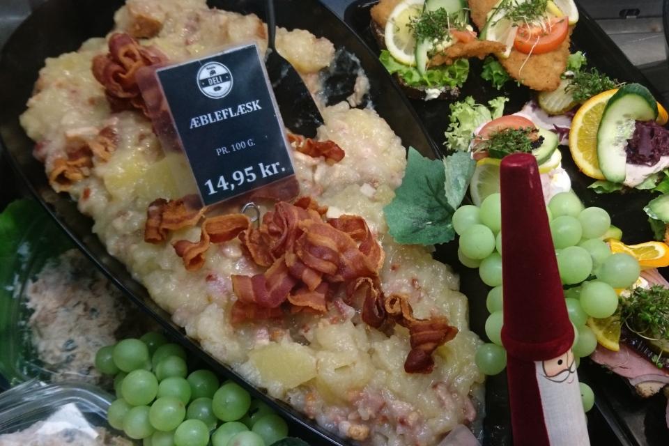 Эблефлеск - блюдо из свинины с яблоками продается в разделе готовой еды