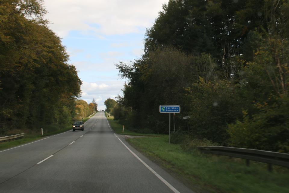 Дорожный указатель муниципалитета Фарсков / Farskov kommune, Дания