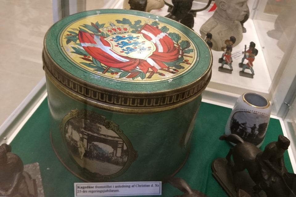 Крышка жестяной коробки для печенья 1937 года