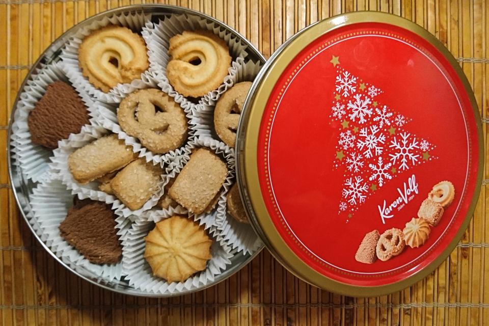 Печенье в жестяной коробке торговой марки Карен Вольф