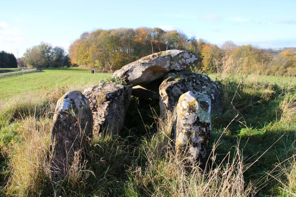 Два плоских камня у входа в каменное сооружение с южной стороны.
