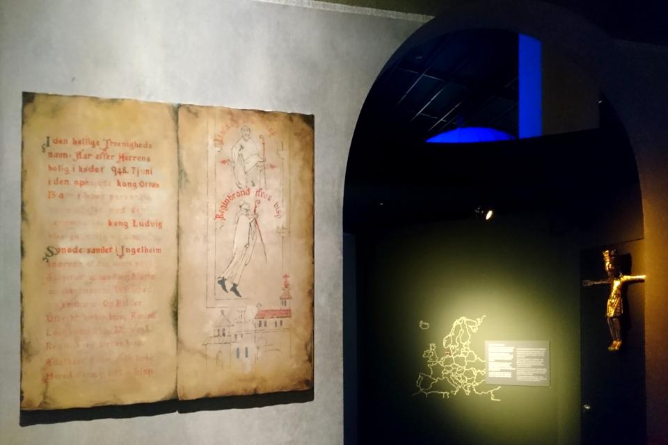 Копия распятия церкви Обю в музее Мосгорд