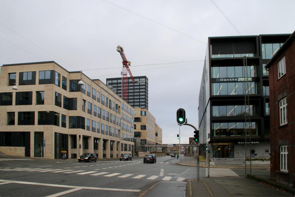 Улица Spanien, Орхус, Дания 18 нояб. 2020