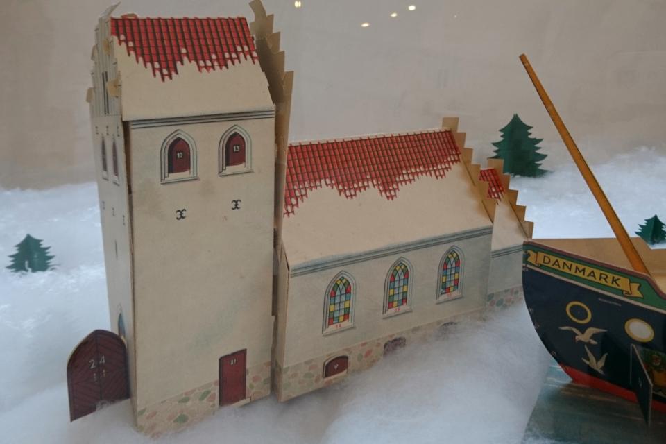 Старые рождественские календари в музее Хорсенс, Дания. 29 нояб. 2020