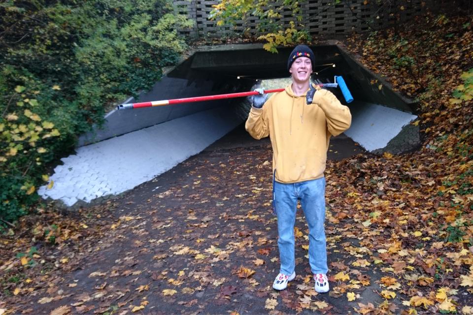 Антон Борг Йорт / Anton Borg Hjort, тоннель в Холме. 26 окт. 2020