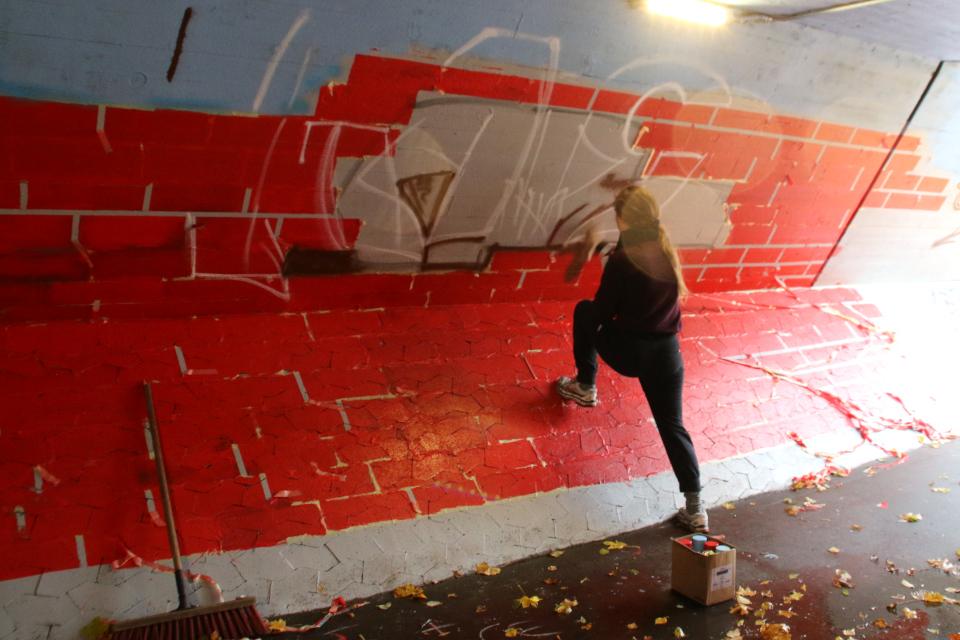 Екатерина Полякова, тоннель в Холме. 2 нояб. 2020, Дания
