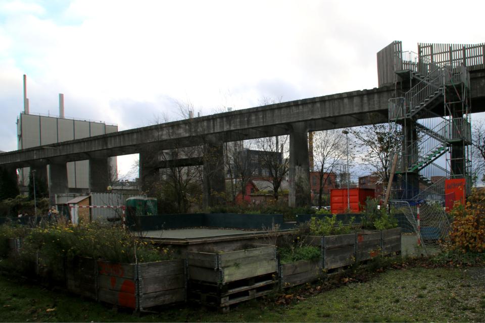 Угольный мост в Орхусе, Дания. 18 нояб. 2020