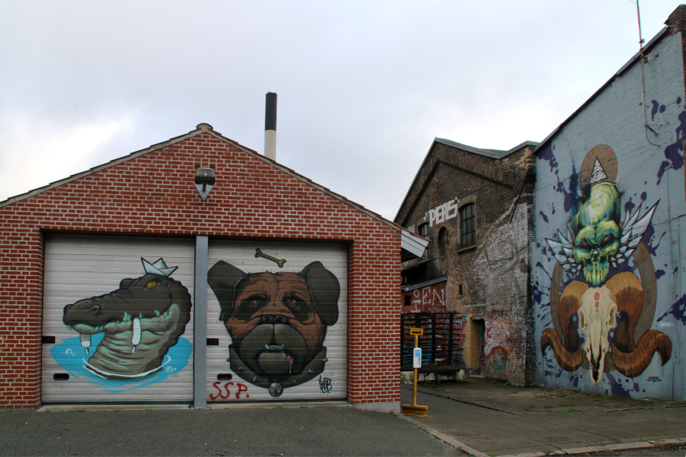 Стрит-арт, порт Орхус, Дания. 18 нояб. 2020