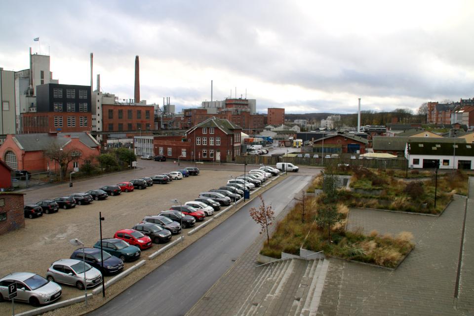Вид с угольного моста в Орхусе, Дания. 18 нояб. 2020