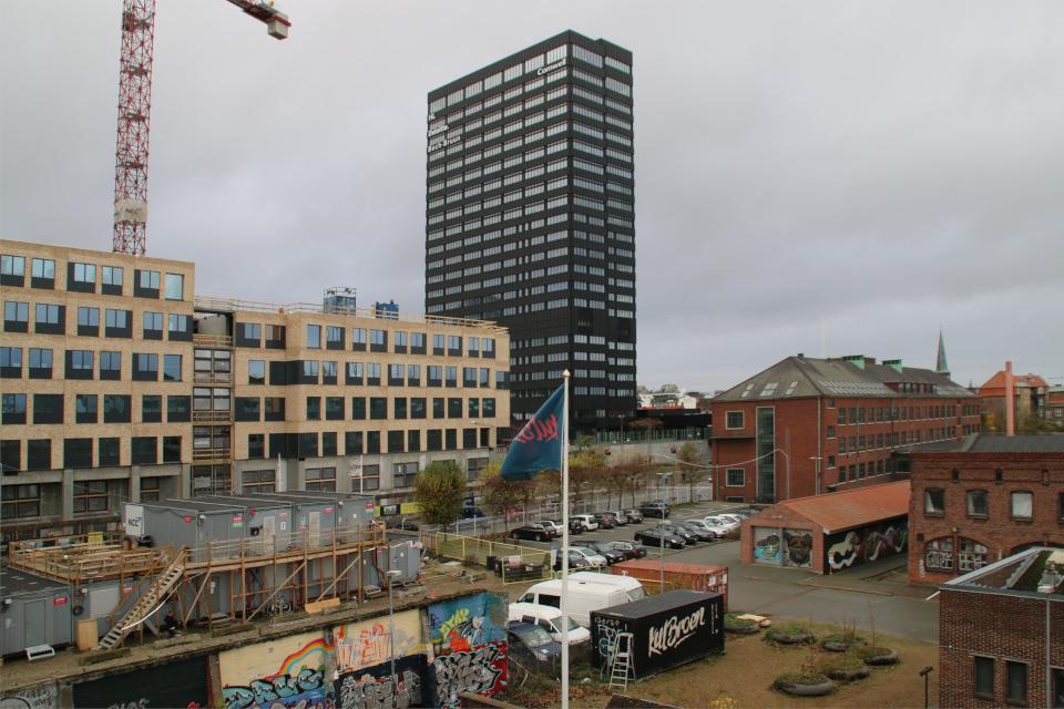 Вид на г. Орхус, Дания. 18 нояб. 2020