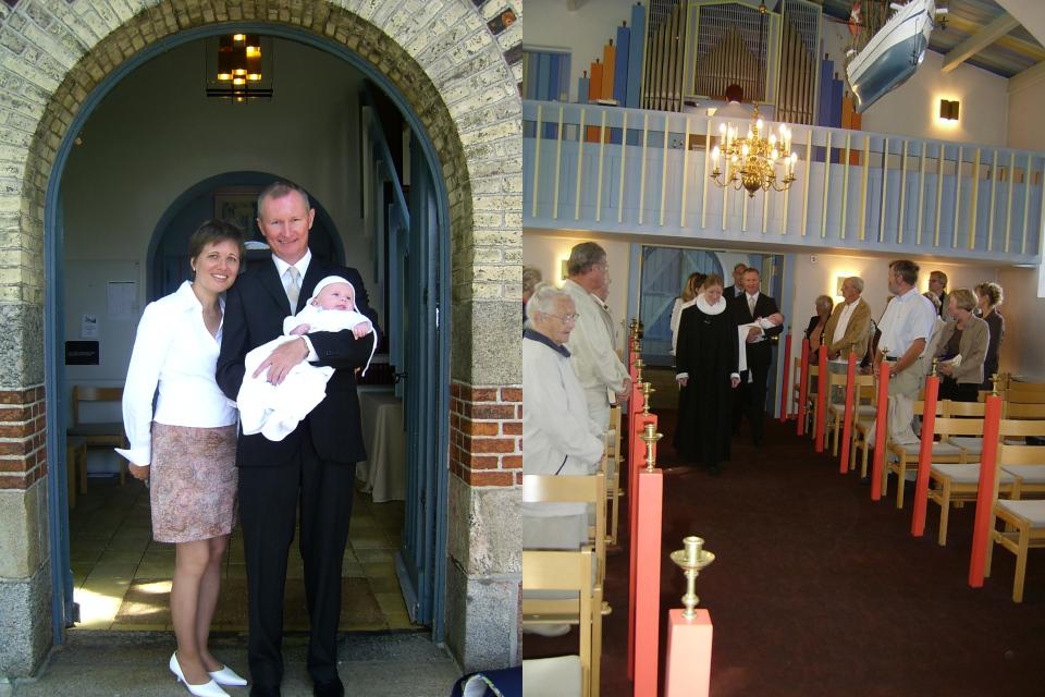 Крещение моего сына Давида Вальдемара в церкви Обю / G. Åby