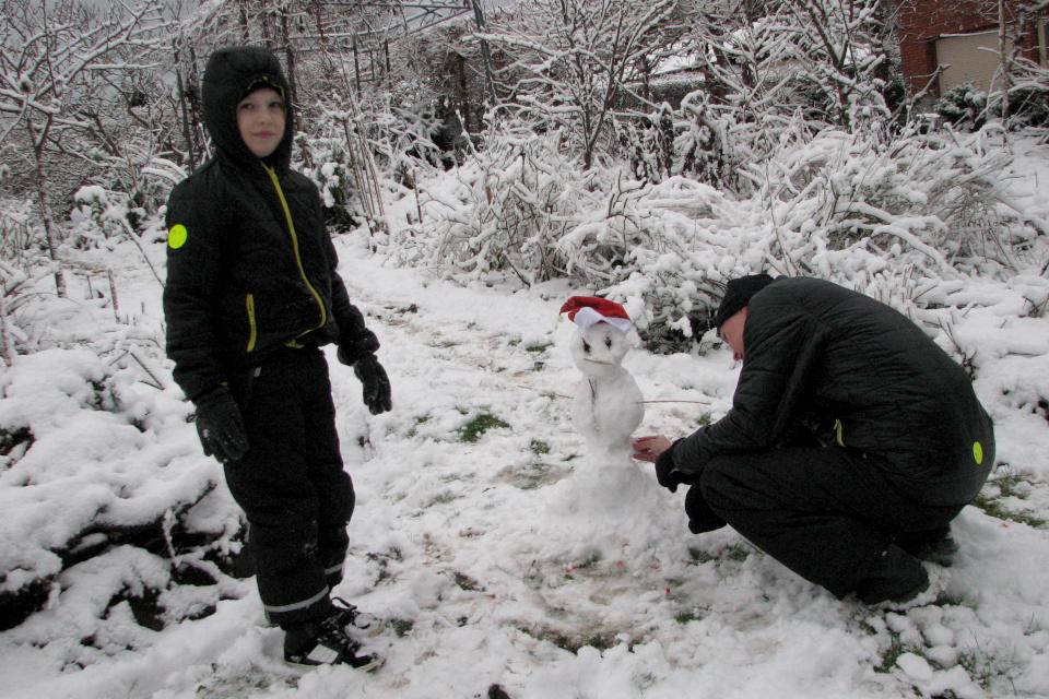 Рождественский снеговик. Белое рождество в Дании