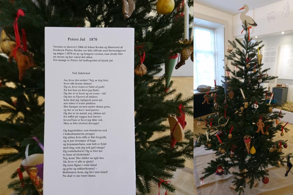 История рождественских елок в Дании - елка в стиле 1870 х г