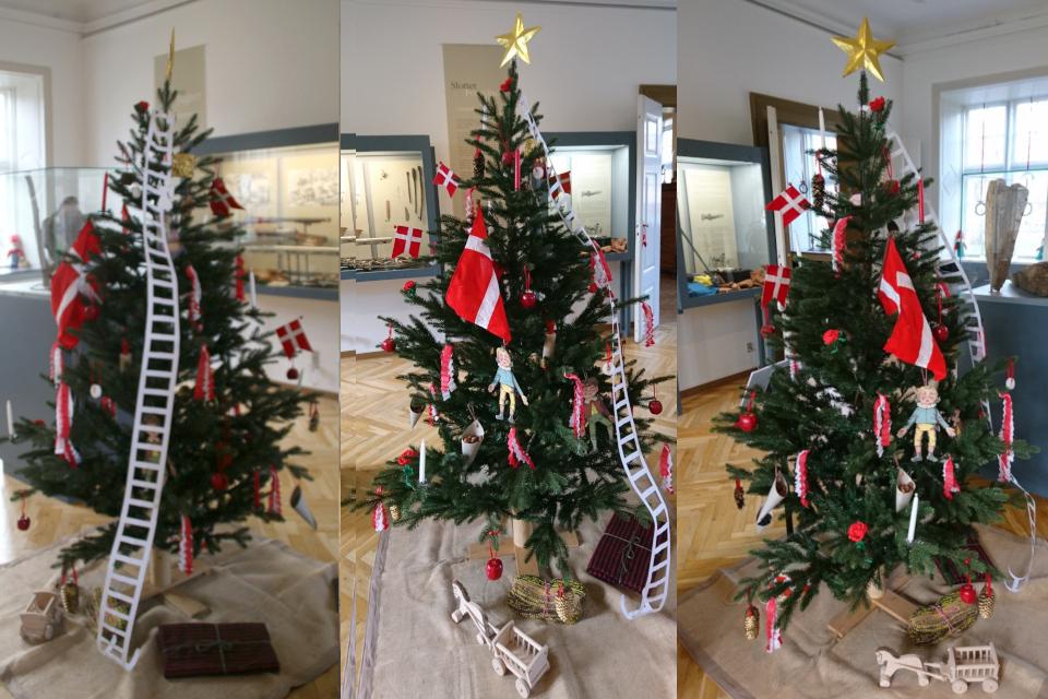 Рождественская елка, украшенная в стиле 1848 года