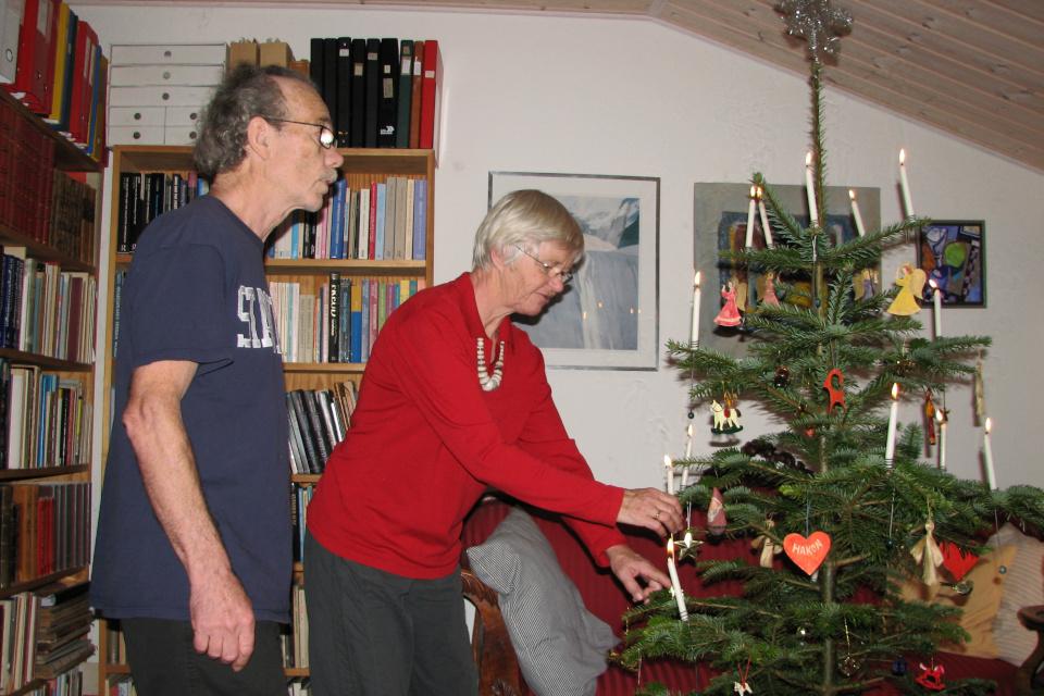 Рождественская елка. Фото 29 дек. 2007, г. Йортсхой, Дания