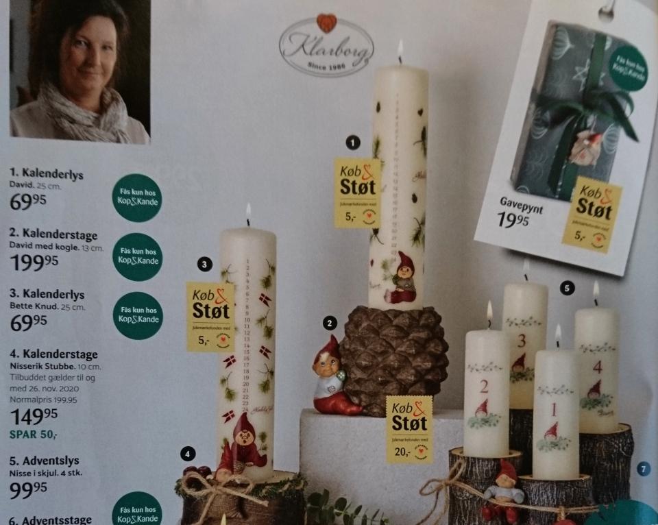 Календарные свечи в Дании для поддержки детского фонда