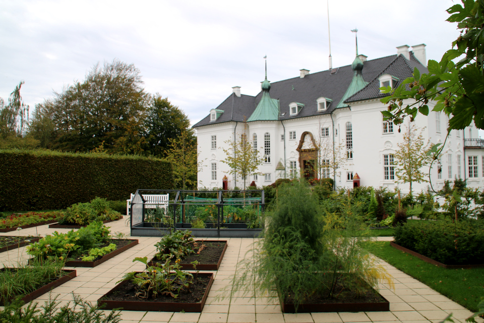 Огороды перед дворцом. Фото 4 окт. 2020, парк Марселисборг, г. Орхус, Дания