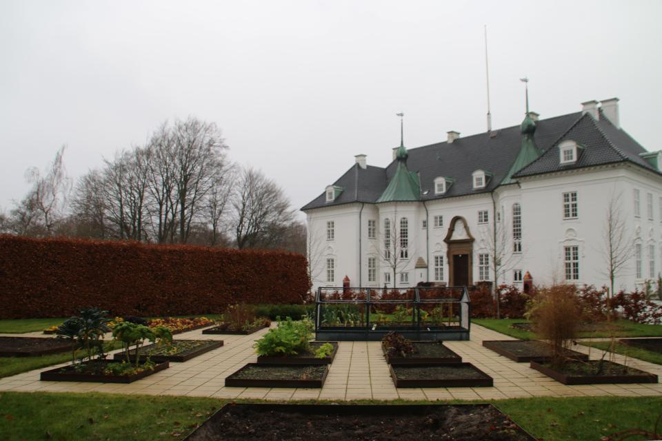 Огороды перед дворцом. Фото 10 дек. 2020, парк Марселисборг, г. Орхус, Дания