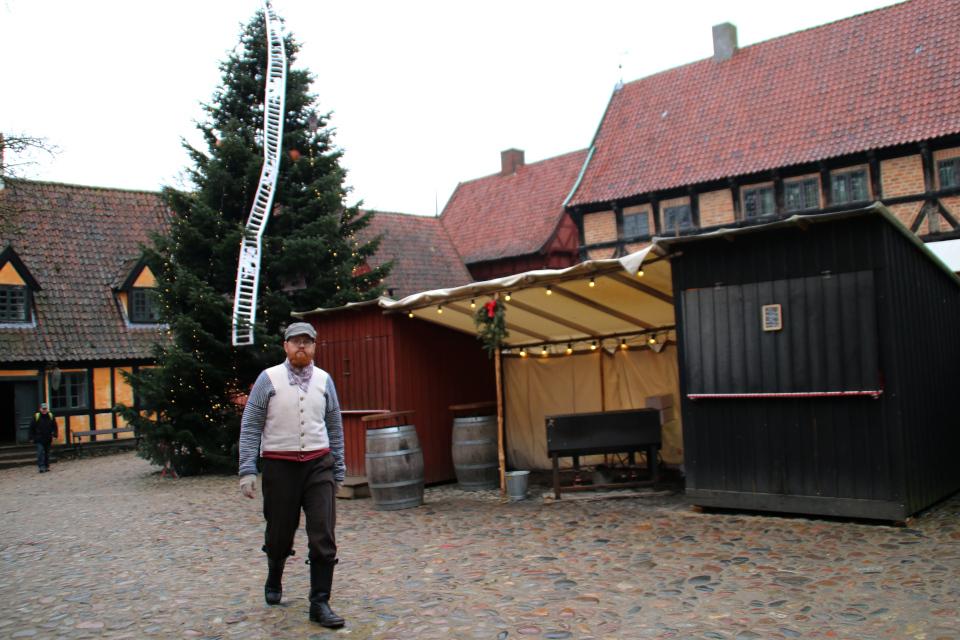 Рождественская елка с лестницей Иакова на площади Старого Города, г. Орхус