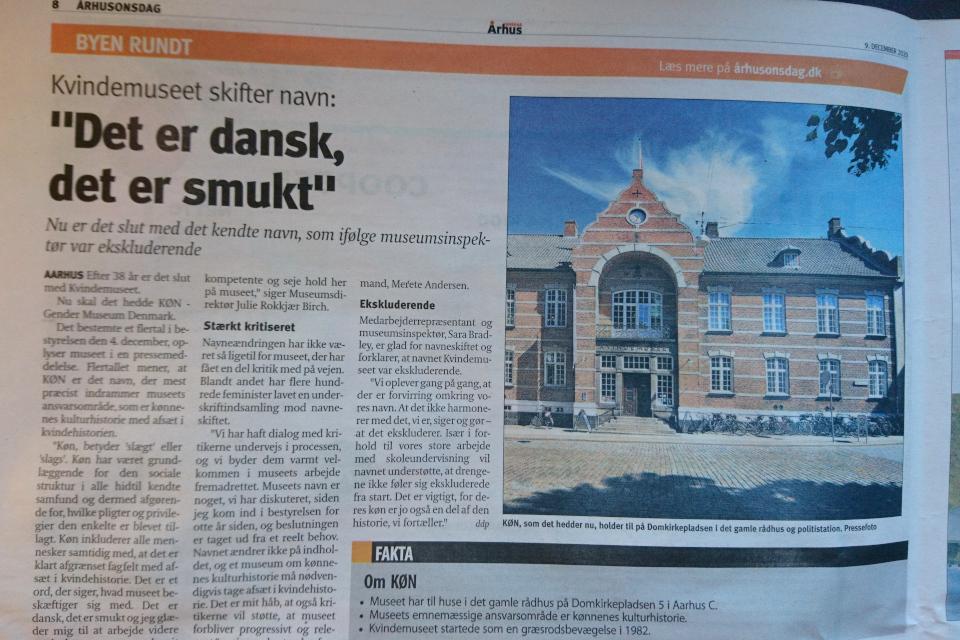 """Статья в газете """"Aarhus Onsdag"""" 9 декабря 2020 г."""