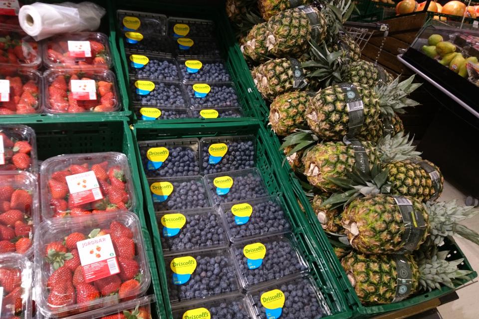 Новогодний стол в Дании 2021, фрукты