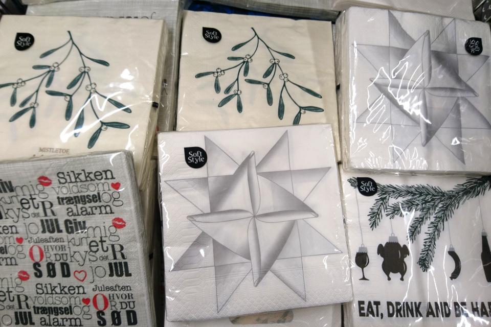 Плетеные рождественские звезды на бумажных салфетках