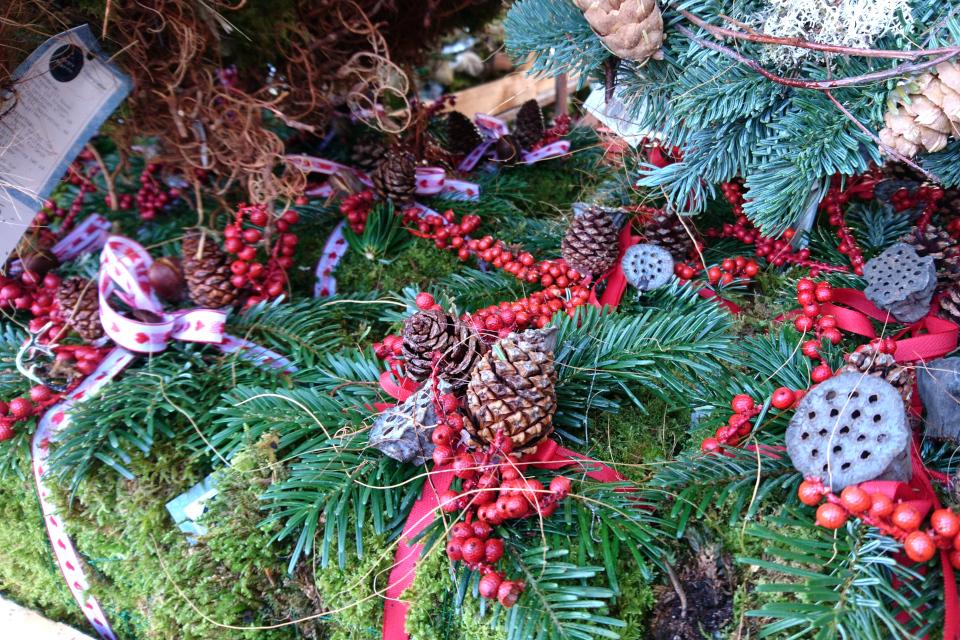 рождественские украшения из природных материалов