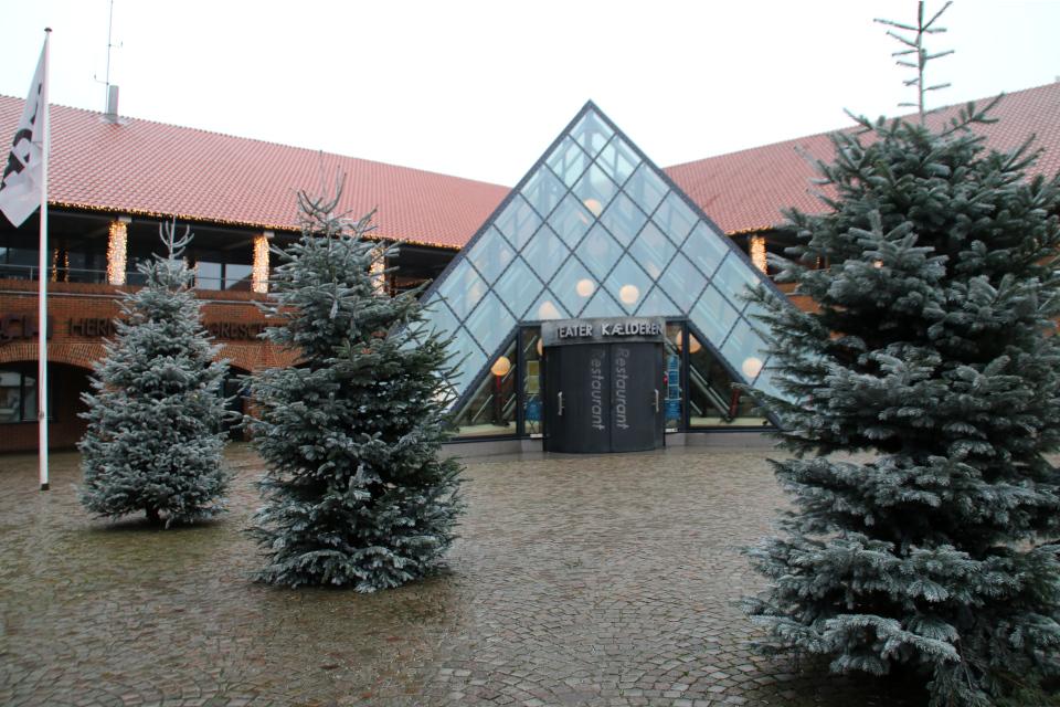 Рождественское убранство в Хернинг, Дания. Фото 15 дек. 2020
