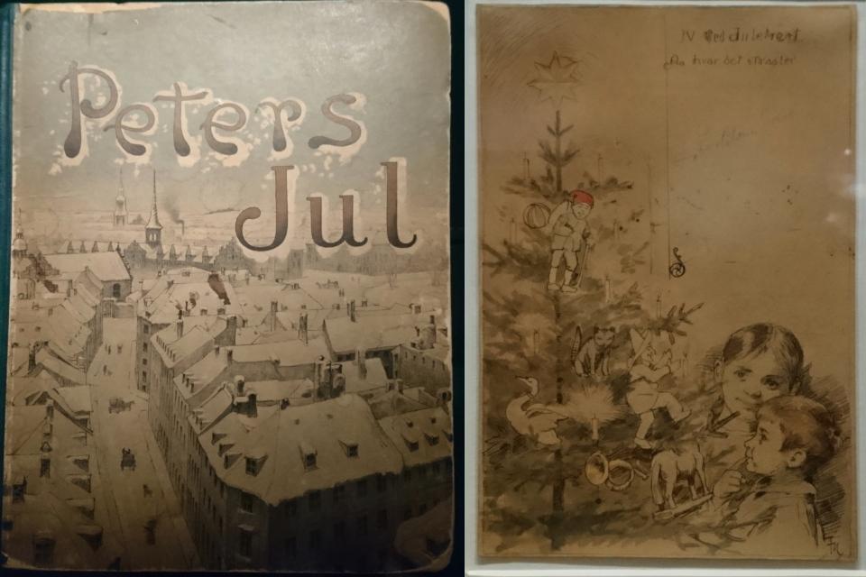 """Старая книга """"Рождество Петера"""" (дат. """"Peters Jul"""")"""
