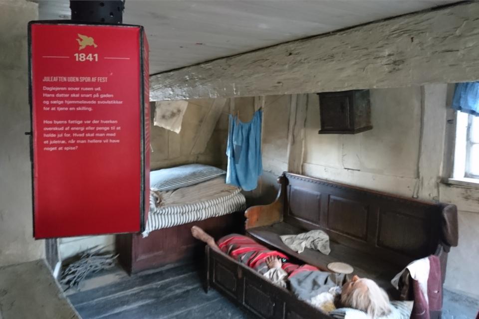 Рождество в доме семьи бедных крестьян - 1841 год